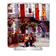 Childhood Montreal Memories Balconies And Bikes The Boys Of Summer Our Streets Tell Our Story Shower Curtain