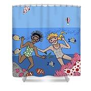 Children 3 Shower Curtain