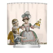 Children At Play, Engraved By Patas Shower Curtain