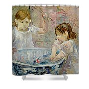 Children At The Basin Shower Curtain