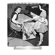 Children Doing Housework Shower Curtain