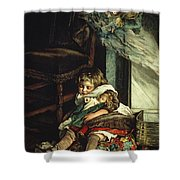 Children Dreaming Of Toys Shower Curtain