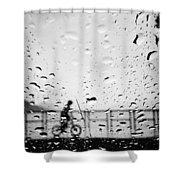 Children In Rain Shower Curtain