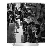 Children In The Rosarito Art Shops Shower Curtain