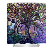 Children Under The Fantasy Tree With Jackie Joyner-kersee Shower Curtain