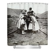 Children With Camera, C1900 Shower Curtain