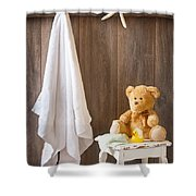Childrens Bathroom Shower Curtain