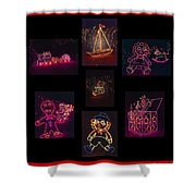 Children's Toys In Lights Poster 2 Shower Curtain