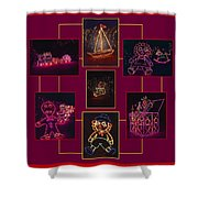 Children's Toys In Lights Poster Shower Curtain