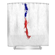 Chile Painted Flag Map Shower Curtain