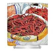 Chili At The Market Shower Curtain