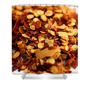 Chili Pepper Flakes Shower Curtain