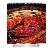 Chilis In A Basket Shower Curtain