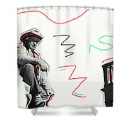 Chill Wills The Alamo Homage 1960 Shower Curtain