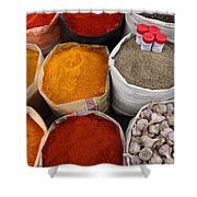 Chilli Powders 4 Shower Curtain