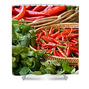 Chillies 04 Shower Curtain