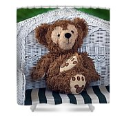 Chilling Bear Shower Curtain
