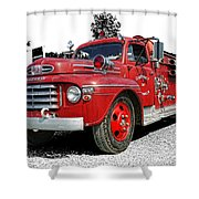 Chilliwack Fire- Mercury Firetruck Shower Curtain