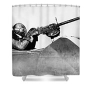 Chilly Army Air Corp Plane Shower Curtain