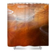 Chimineas #3 Shower Curtain by Stuart Litoff
