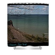 Chimney Bluffs Lake Ontario New York Shower Curtain