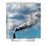 Chimney Exhaust Waste Amount Of Co2 Into The Atmosphere Shower Curtain by Ulrich Schade