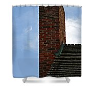 Chimney Moon Shower Curtain