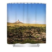 Chimney Rock - Bayard Nebraska Shower Curtain