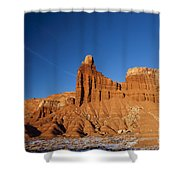 Chimney Rock Capitol Reef National Park Utah Shower Curtain