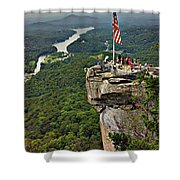 Chimney Rock Overlook Shower Curtain