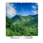 Chimney Tops Mountain In Great Smoky Mountains  Shower Curtain