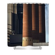 Chimneys Of Coal Power Station. Shower Curtain