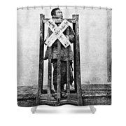 China Punishment, C1870 Shower Curtain