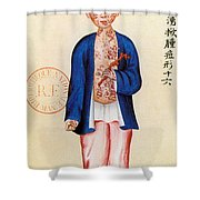 China Smallpox Shower Curtain