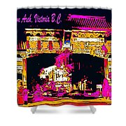 China Town Arch Victoria British Columbia Canada Shower Curtain