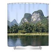 China Yangshuo County Li River  Shower Curtain