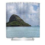 Chinamans Hat Panorama - Oahu Hawaii Shower Curtain