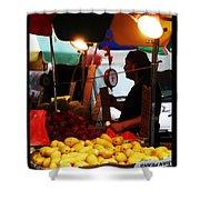 Chinatown Fruit Vendor Shower Curtain
