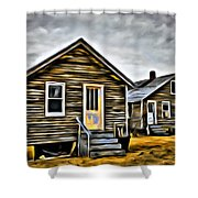 Chincoteague Shanty Artsy Shower Curtain