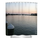 Chincoteague Sound In The Eveninglight Shower Curtain