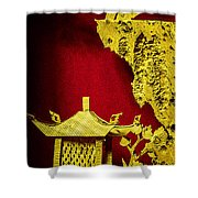 Chinese Cork Carving 2 Shower Curtain