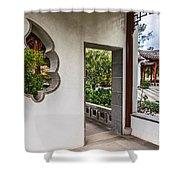 Chinese Courtyard Shower Curtain