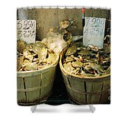 Chinese Crabs For Sale Shower Curtain