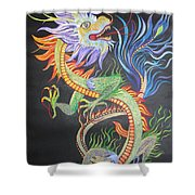 Chinese Fire Dragon Shower Curtain