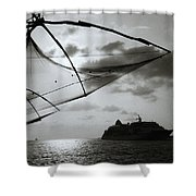 Approaching Cochin Shower Curtain