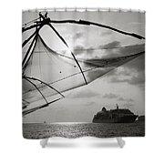 Chinese Fishing Net Shower Curtain