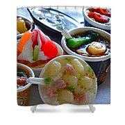 Chinese Food Miniatures 4 Shower Curtain