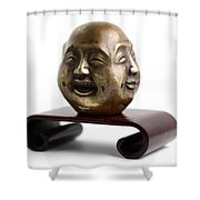 Chinese Four Faced Figure Shower Curtain