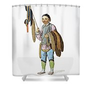 Chinese Furrier Shower Curtain