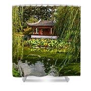 Chinese Garden Breeze Shower Curtain